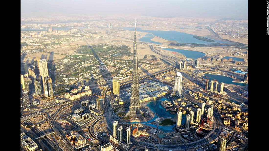 By 2010, Burj Khalifa was completed. At 162 floors and a height of 828 meters, it is the tallest building on Earth.
