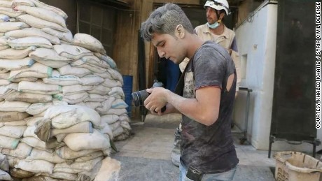 "Khaled Khatib worked on the Oscar-winning documentary short ""The White Helmets."""