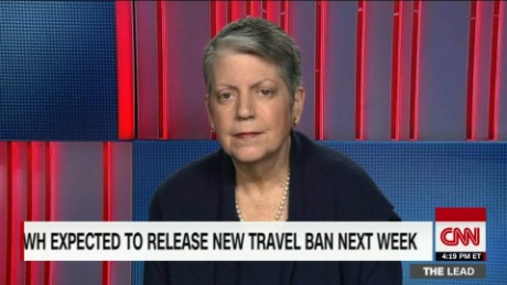 WH May Release New Travel Ban Next Week  Napolitano tapper lead intv_00051616