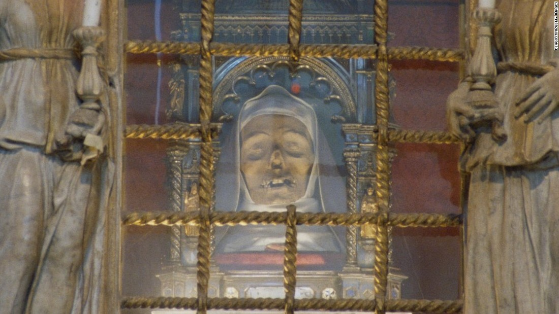 Saint Catherine of Siena was known for her miraculous visions and her work helping the sick and poor. Today visitors to the city can see a slightly macabre memorial to her. More than 600 years after her death, Saint Catherine's head remains on display at the Basilica of San Domenico.