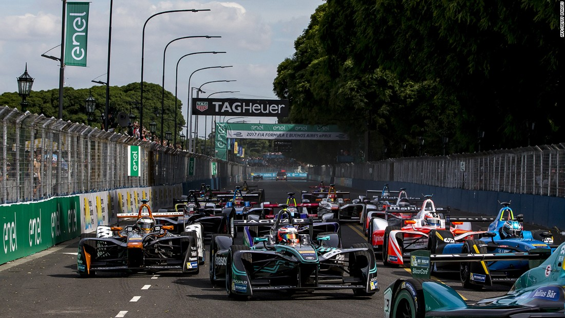 Di Grassi started on pole for the first time in his Formula E career, but the Brazilian's old adversary Buemi claimed the checkered flag in the South American race.