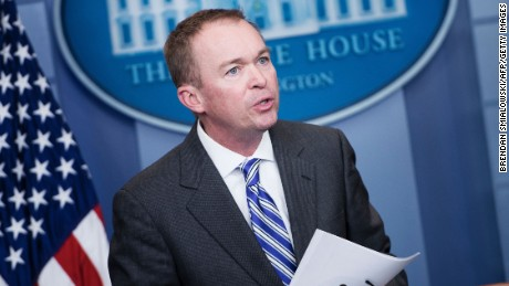 Office of Management and Budget Director Mick Mulvaney speaks about US President Donald Trump's budget during a press briefing at the White House February 27, 2017 in Washington, DC.