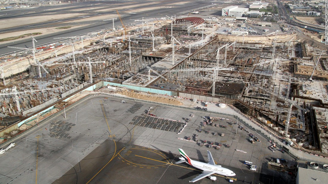 Dubai International Airport is the emirate's primary airport, but Al Maktoum International Airport was built as part of the Dubai World Central development. Around 23 miles from Dubai, once completed the airport will have capacity for more than 160 million passengers a year.