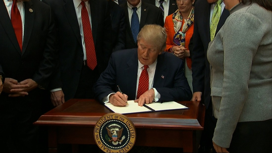 Trump to sign order reviewing EPA water rule