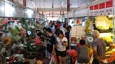 Kreta Ayer Wet Market is an iconic Singapore market.