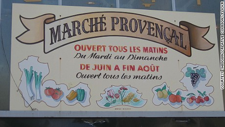 The Marché Provencal stands in the historic centre of Antibes.
