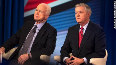 CNN town hall with US Sens. John MCcain and Lindsey Graham on Wednesday, March 1.