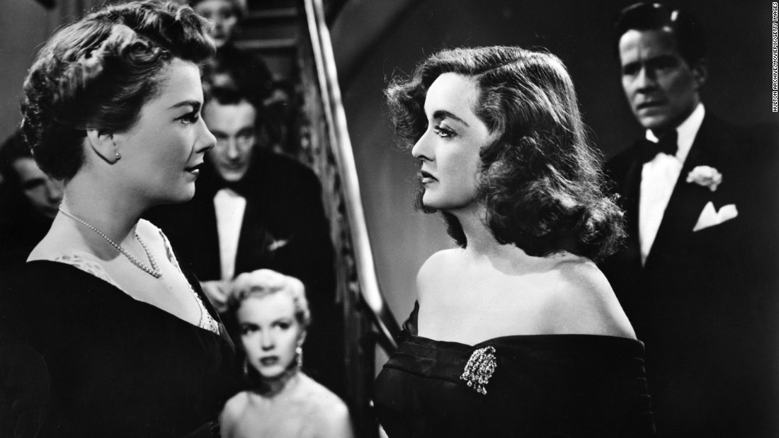 "Like Crawford, Davis made remarkable comebacks during her long career, especially with Joseph L. Mankiewicz's ""All About Eve,"" the 1950 best picture Oscar winner. As aging actress Margo Channing, Davis faces career and romantic threats from sneaky understudy Eve Harrington, played by Anne Baxter, left. Davis and Baxter vied for top actress honors, but both lost in a competitive year. ""All About Eve"" featured a newcomer named Marilyn Monroe, center."