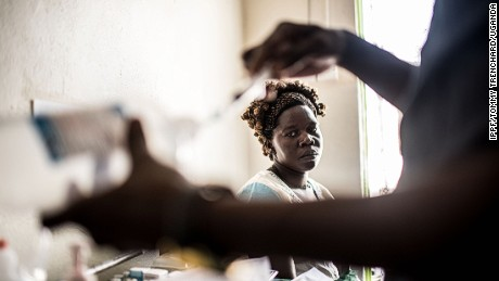 25 year old Dorcas Lanyero waits for a blood test during a visit to an IPPF-affiliated clinic in Gulu, Uganda.