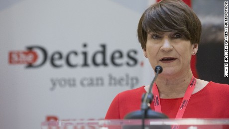 Dutch Development Minister Lilianne Ploumen, who launched She Decides, speaks at conference.