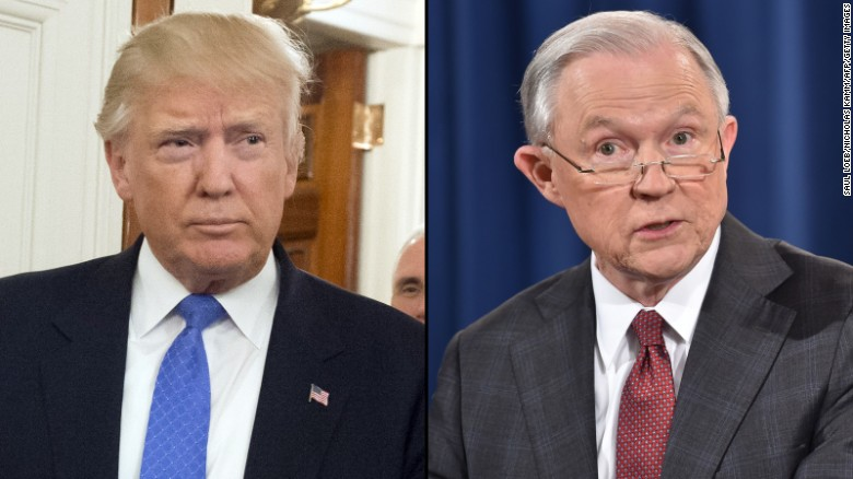 Trump says Sessions' Justice Department put GOP in midterm jeopardy
