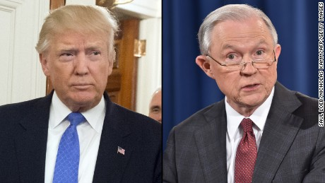Trump says Sessions' DOJ has placed GOP in midterm jeopardy