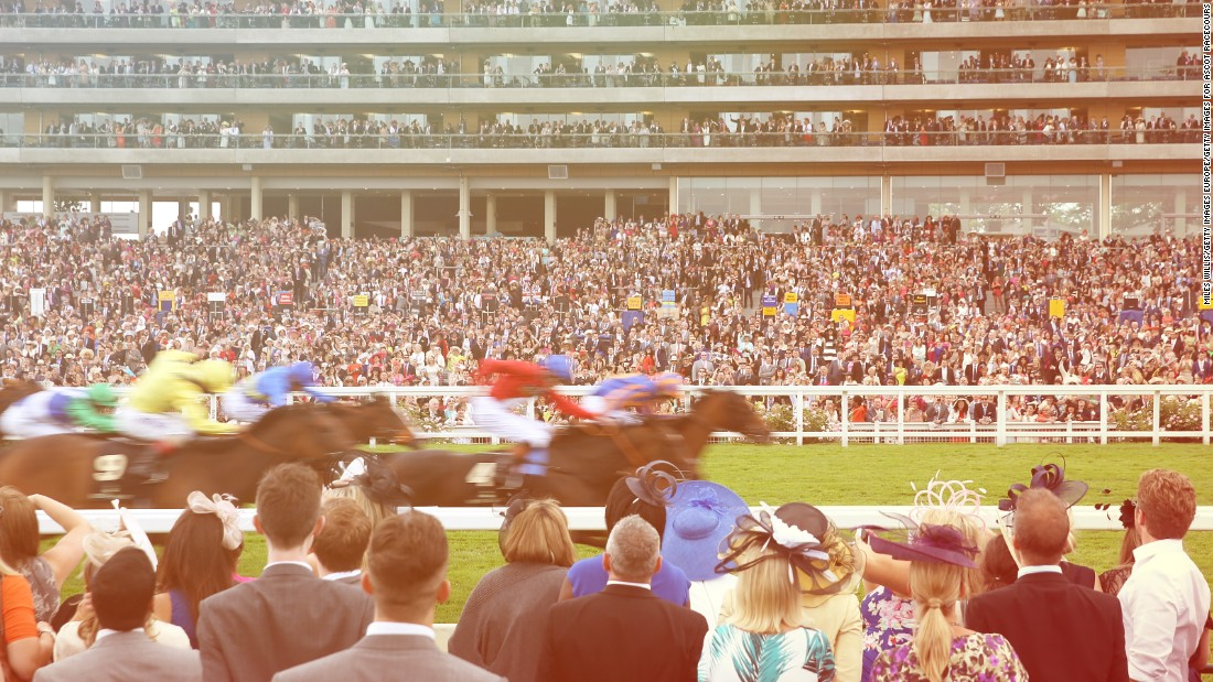 The famous Ascot grandstand will serve as a backdrop for spectators watching in the new enclosure housed in the center of the race track.