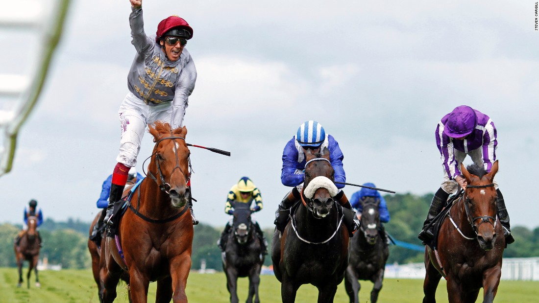 Frankie Dettori (left) rides Galileo Gold to victory at the St James's Palace Stakes, a one mile flat race for three-year-old colts, at last year's Royal Ascot.