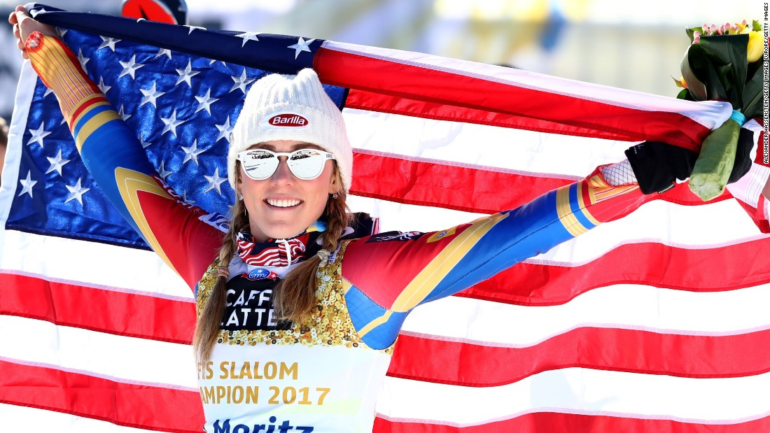 "America's <a href=""http://cnn.com/2017/03/20/sport/alpine-edge-mikaela-shiffrin-backroom-team/index.html"">golden girl</a> Shiffrin enjoyed a storming season so far. On her way to claiming the overall title, she made history with <a href=""http://cnn.com/2017/02/17/sport/mikaela-shiffrin-st-moritz-2017/"" target=""_blank"">her third successive world championship slalom title.</a>"