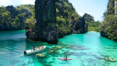 Surrounded by karst rock formations, Palawan anchors the southwest corner of the Philippines, a largely undeveloped island that channels the wild vibe of nearby Borneo.