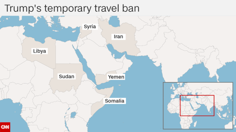 The six countries banned by Trump