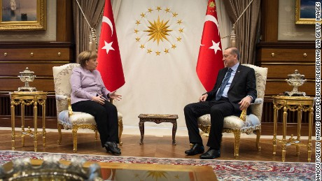 Merkel condemns Nazi insult from Turkey's President Erdogan
