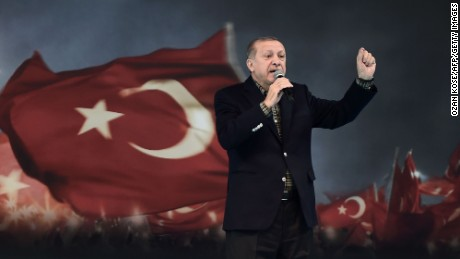 Turkey's president denies dictator charges