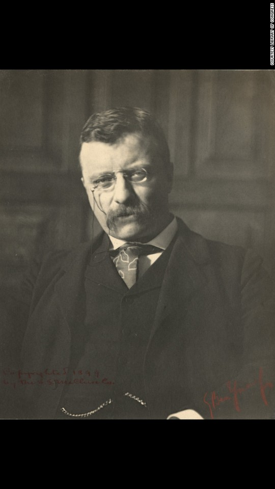 "Theodore Roosevelt was governor of New York when he posed for Ben-Yusuf in 1899. He became president of the United States two years later. ""Despite her young age and her recent arrival in America, (Ben-Yusuf) attracted to her studio many of the era's most prominent artistic, literary, theatrical and political figures,"" said her biography at the National Portrait Gallery. ""Seen together, these individuals represent a remarkable cross section of a place that was rapidly becoming America's first modern city."""