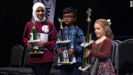Oklahoma's Edith Fuller, right, qualified for National Spelling Bee.