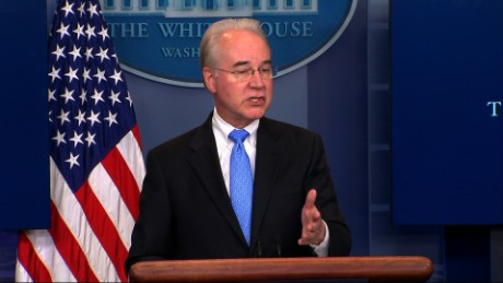 Tom Price avoids making Obama-era promises