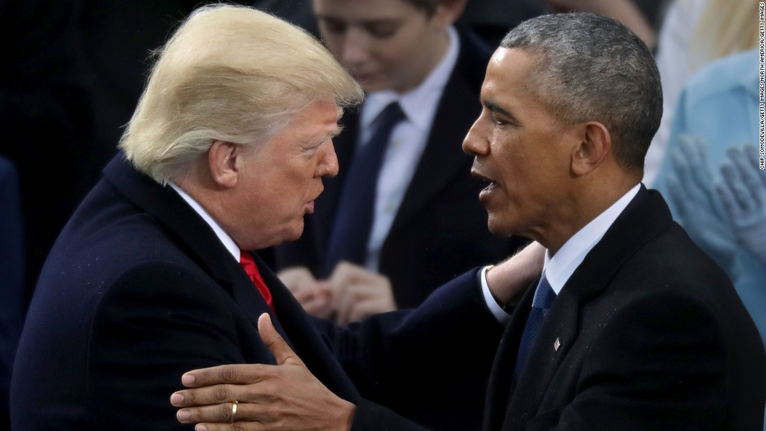Trump's strain with Obama marks departure from presidential fraternity