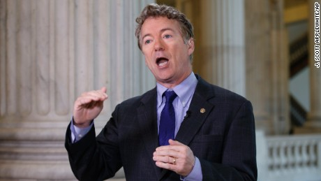 "Sen. Rand Paul, R-Ky., criticizes the House Republican healthcare reform plan as ""Obamacare light"" during a television interview on Capitol Hill in Washington, Tuesday, March 7, 2017. (AP Photo/J. Scott Applewhite)"