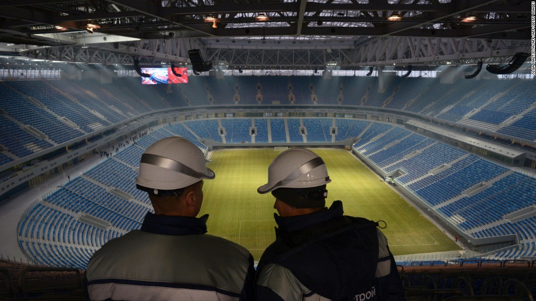 <strong>St. Petersburg Stadium World Cup schedule: </strong>Group stage, last 16, semifinal, third-place playoff<strong><br />Legacy</strong>: The 67,000-seater will regain its former name -- Krestovsky Stadium -- and be home to 2007-08 UEFA Cup winners Zenit St. Petersburg.
