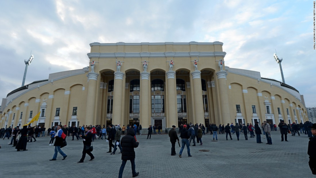 Located 1,000 miles east of Moscow on the site of the old Central Stadium -- once a prominent speed skating venue -- the Ekaterinburg Stadium has retained its original Soviet neo-Classical pillars while adding modern refurbishments and temporary stands.