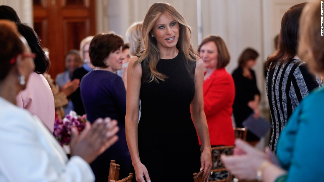 Melania Trump, the first lady of the United States, hosted a White House luncheon for International Women's Day.