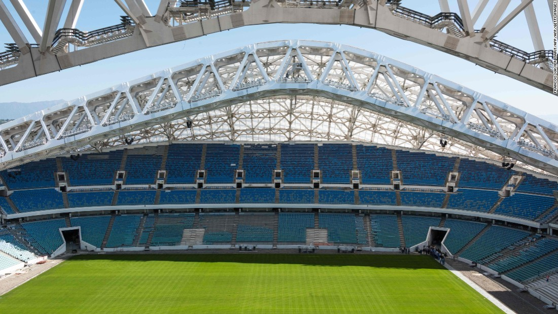 <strong>Fisht Stadium schedule:</strong><br /><strong>Confederations Cup</strong>: Group stage, semifinals<strong><br />World Cup</strong>: Group stage, last 16, quarterfinals<br /><strong>Legacy</strong>: The 47,700-capacity venue will stage training camps and competitive matches for the Russian national team. <br />