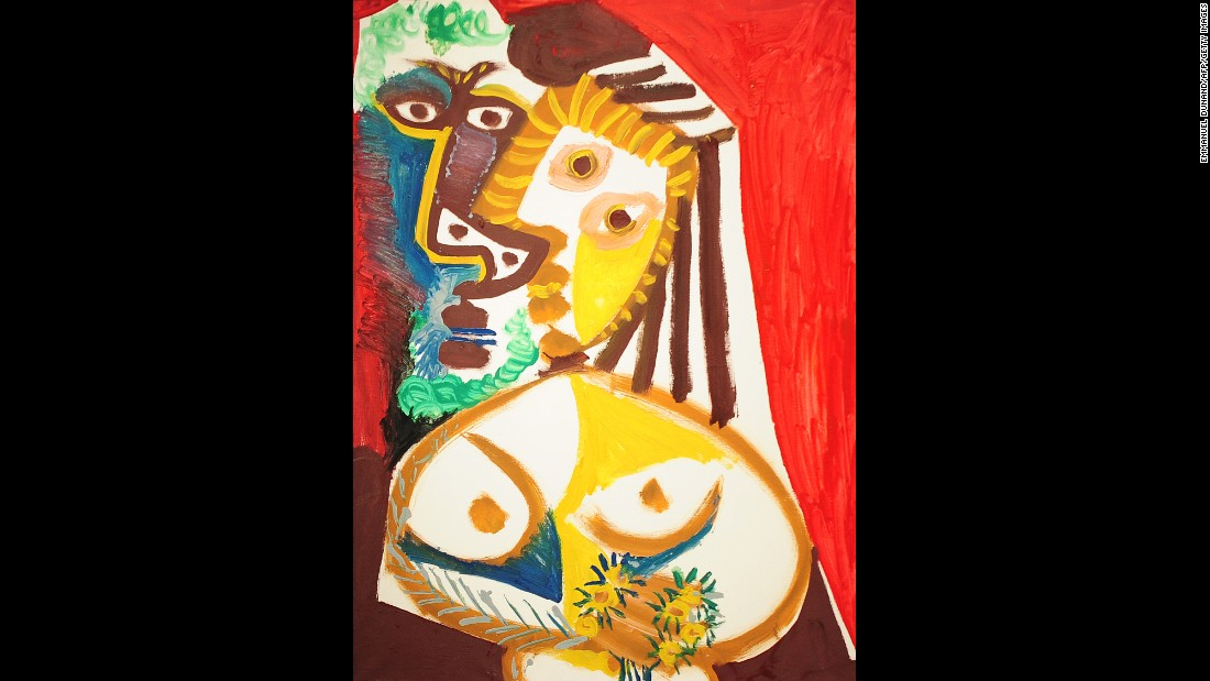 "That didn't stop Picasso from producing canvasses of vivid and explosive color, such as ""Homme et Femme au Bouquet,"" shown here."