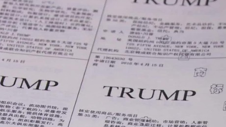 China grants Trump dozens of trademarks