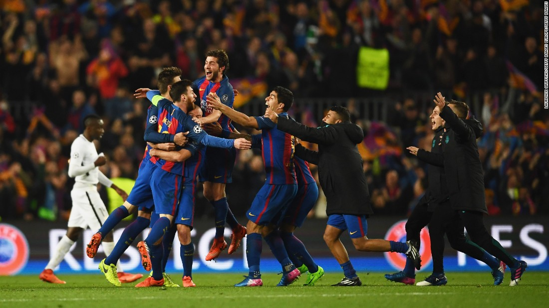 Staff, players and supporters could barely contain themselves. Mission impossible had been completed and Barcelona had reached the Champions League quarterfinals in a manner never seen before.