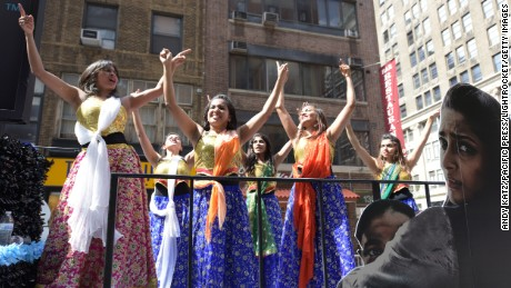 Indians celebrate their heritage and culture in the India Day parade in New York. Some are now questioning whether they still belong in America.