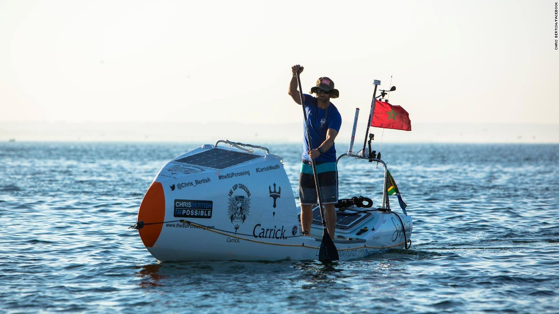 World First As Man Crosses Atlantic Ocean Unaided On