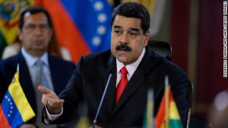 Venezuelan President Nicolas Maduro faces protests over shortages.