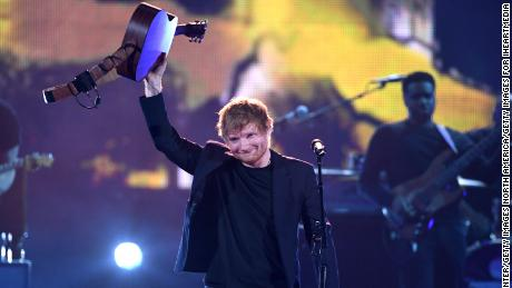 Singer Ed Sheeran performs onstage at the 2017 iHeartRadio Music Awards which broadcast live on Turner's TBS, TNT, and truTV at The Forum on March 5, 2017 in Inglewood, California.