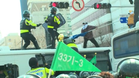 Protests erupt in South Korea after impeachment