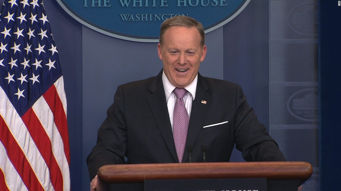 Spicer: 'Don't make me make the podium move'