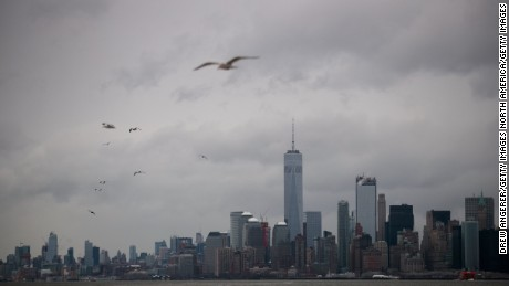 NEW YORK, NY - MARCH 10: A view of Lower Manhattan from the Staten Island Ferry, March 10, 2017 in New York City. A winter weather advisory was in effect for the area until 2pm. (Photo by Drew Angerer/Getty Images)