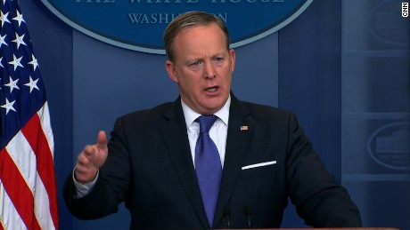 Spicer back in March: Of course we can take Trump's word