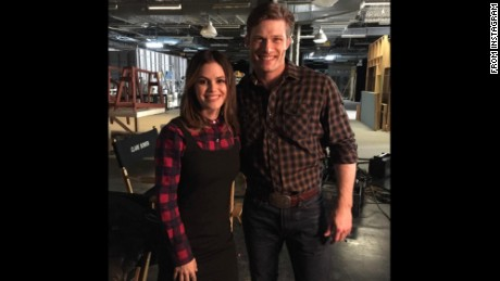 Rachel Bilson and Chris Carmack are happy to be working together again.