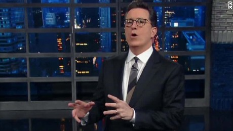 Colbert lampoons Conway-Cuomo exchange