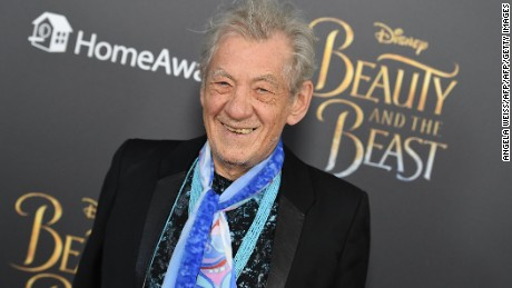 Actor Sir Ian McKellen attends the New York special screening of Disney's live-action adaptation 'Beauty and the Beast' at Alice Tully Hall on March 13, 2017 in New York City. / AFP PHOTO / ANGELA WEISS        (Photo credit should read ANGELA WEISS/AFP/Getty Images)