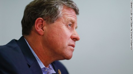 Republican Congressman Charlie Dent speaks during an interview at his campaign office in  Allentown, Pennsylvania on November 2, 2016.
