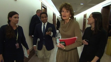 Senator snaps at reporter asking about an earlier version of the House health care bill