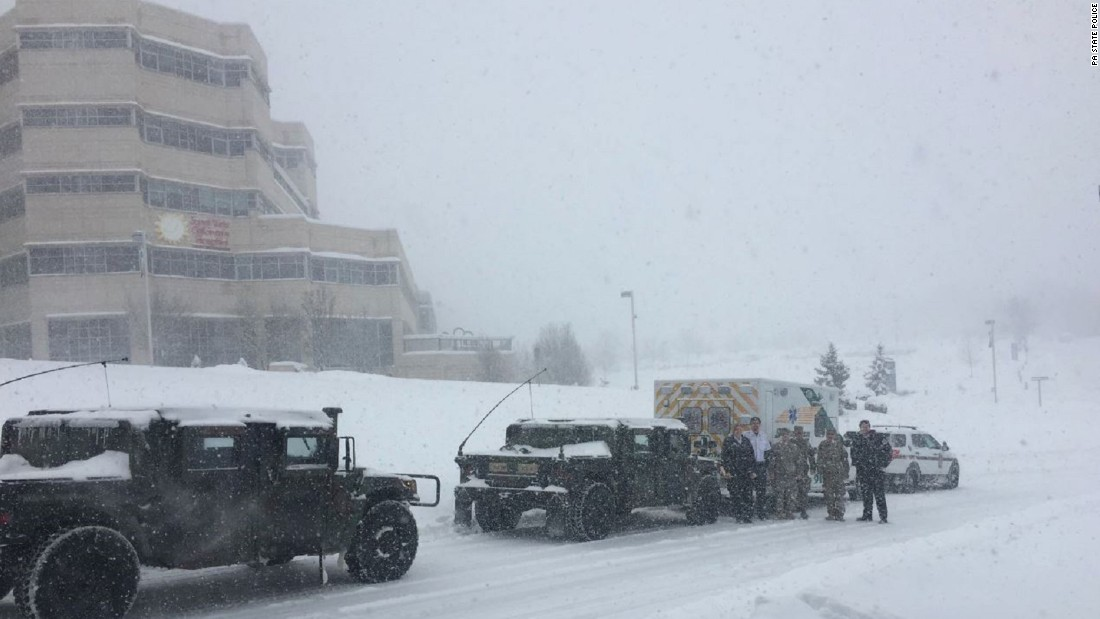 Toddler with medical emergency gets special convoy through snow storm