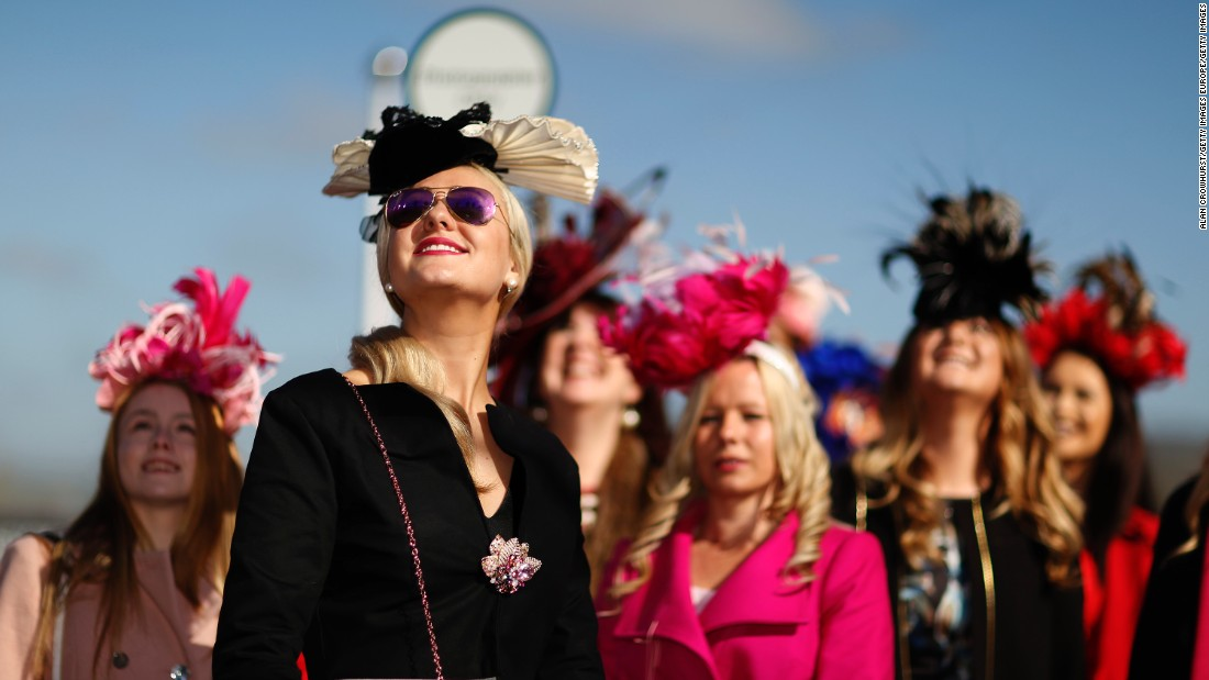 The second day of racing marks Ladies' Day, where women traditionally come dressed in elaborate hats.